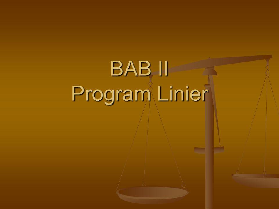 BAB II Program Linier