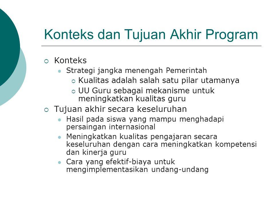 Konteks dan Tujuan Akhir Program