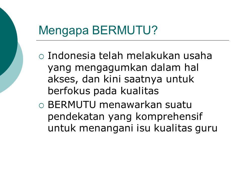 Mengapa BERMUTU Indonesia telah melakukan usaha yang mengagumkan dalam hal akses, dan kini saatnya untuk berfokus pada kualitas.