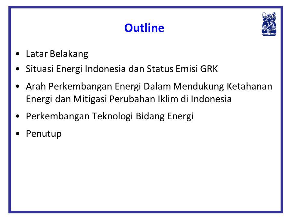 Outline Latar Belakang Situasi Energi Indonesia dan Status Emisi GRK