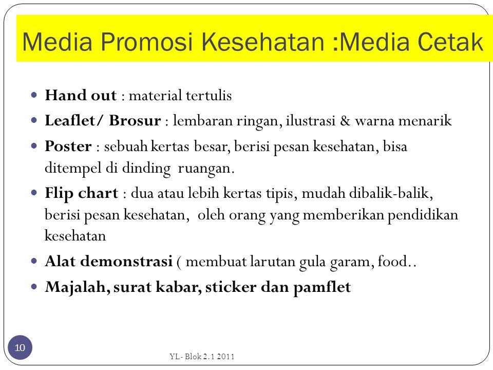 Media Promosi Kesehatan :Media Cetak