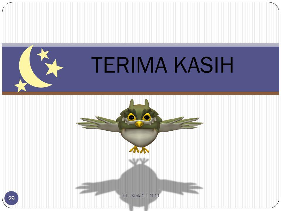 TERIMA KASIH YL- Blok 2.1 2011