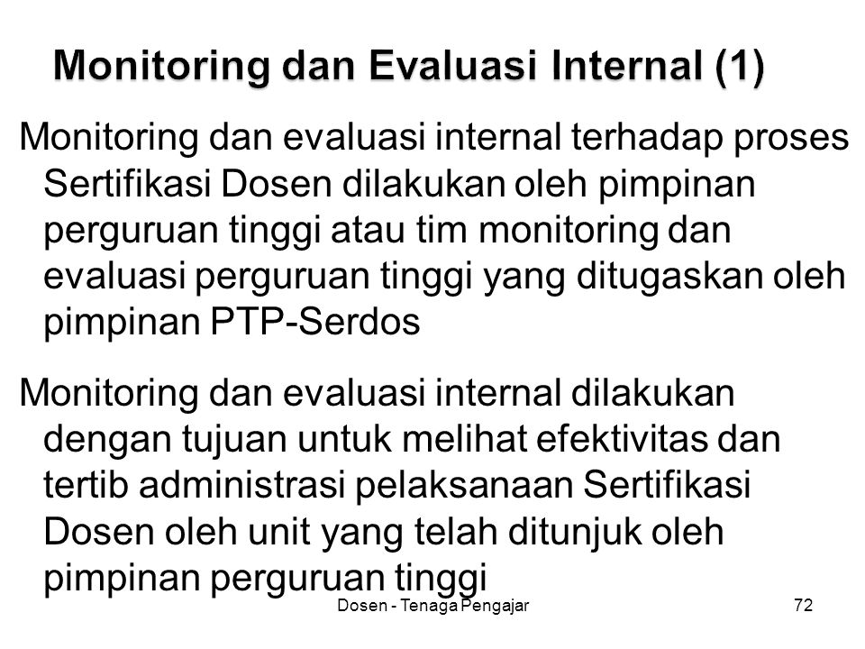 Monitoring dan Evaluasi Internal (1)