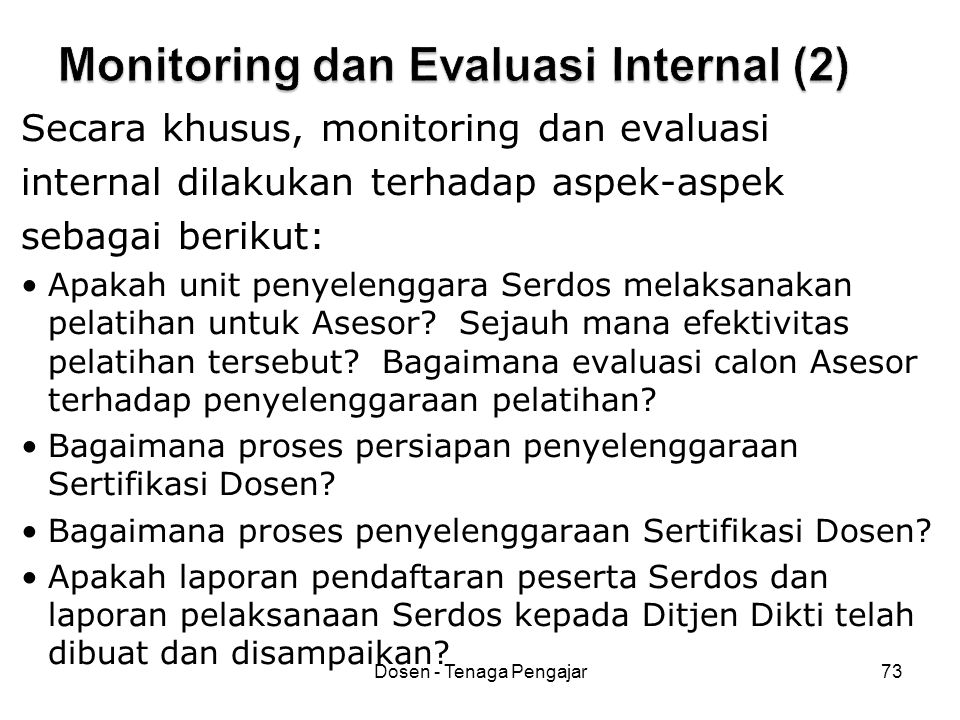 Monitoring dan Evaluasi Internal (2)