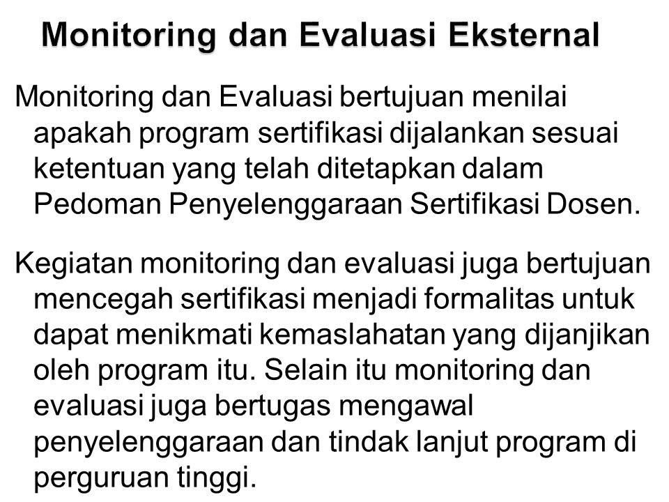 Monitoring dan Evaluasi Eksternal