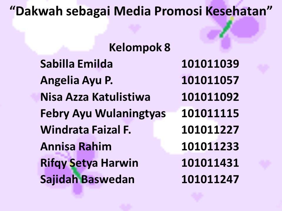 Dakwah sebagai Media Promosi Kesehatan