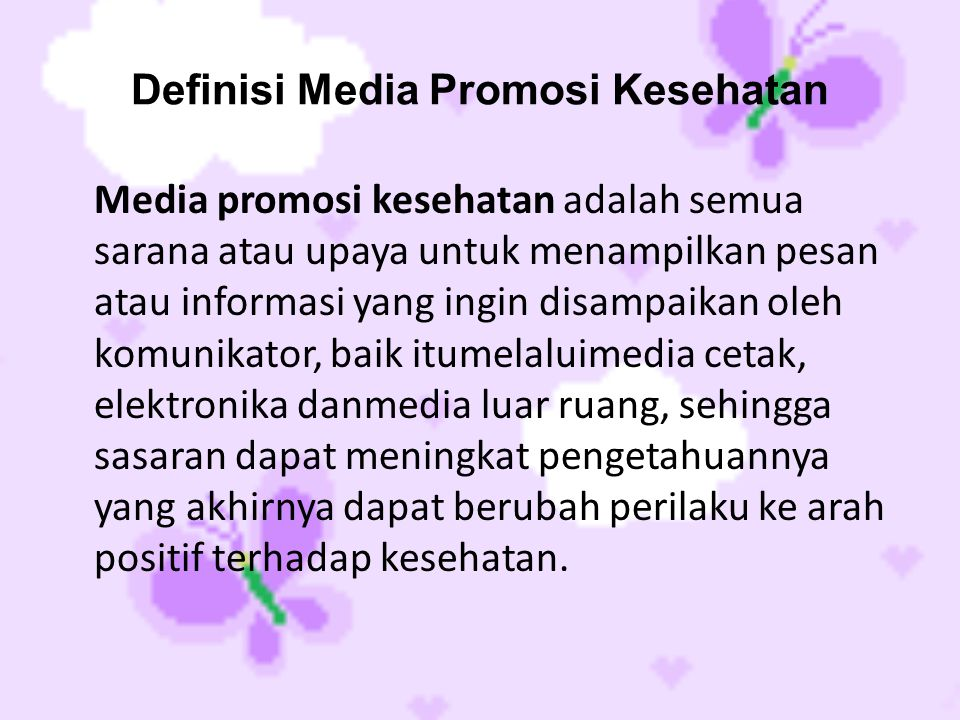 Definisi Media Promosi Kesehatan