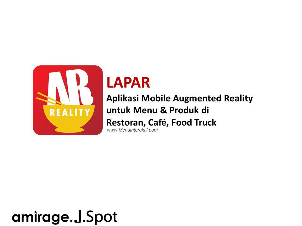 LAPAR Aplikasi Mobile Augmented Reality untuk Menu & Produk di