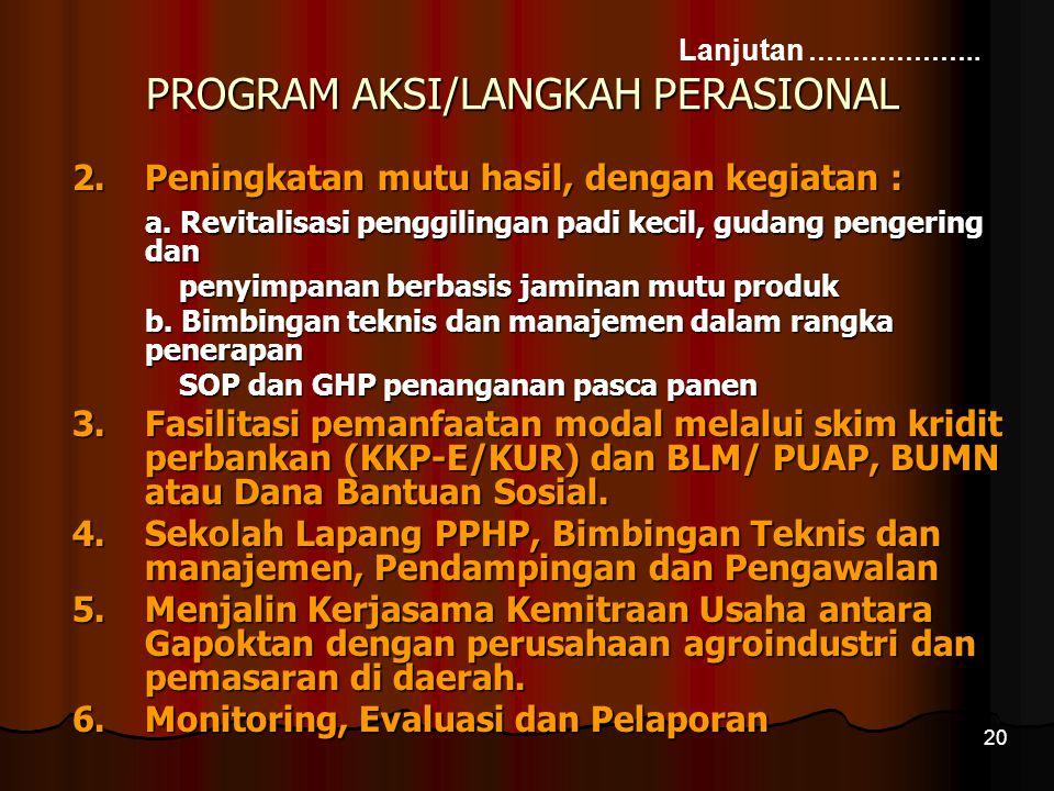 PROGRAM AKSI/LANGKAH PERASIONAL