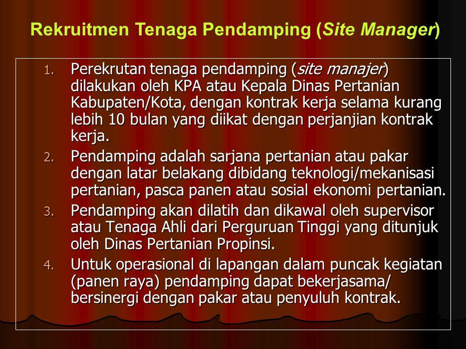 Rekruitmen Tenaga Pendamping (Site Manager)