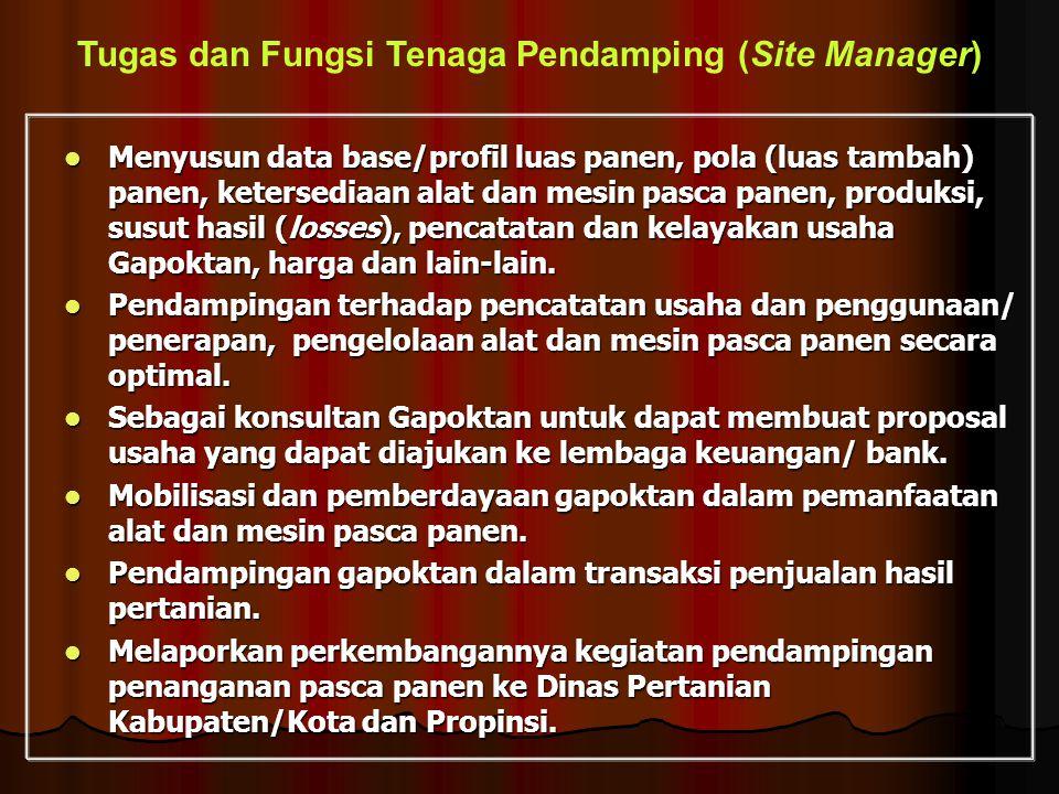 Tugas dan Fungsi Tenaga Pendamping (Site Manager)