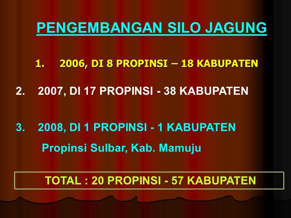 2006, DI 8 PROPINSI – 18 KABUPATEN