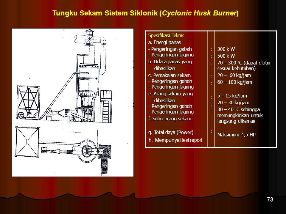 Tungku Sekam Sistem Siklonik (Cyclonic Husk Burner)