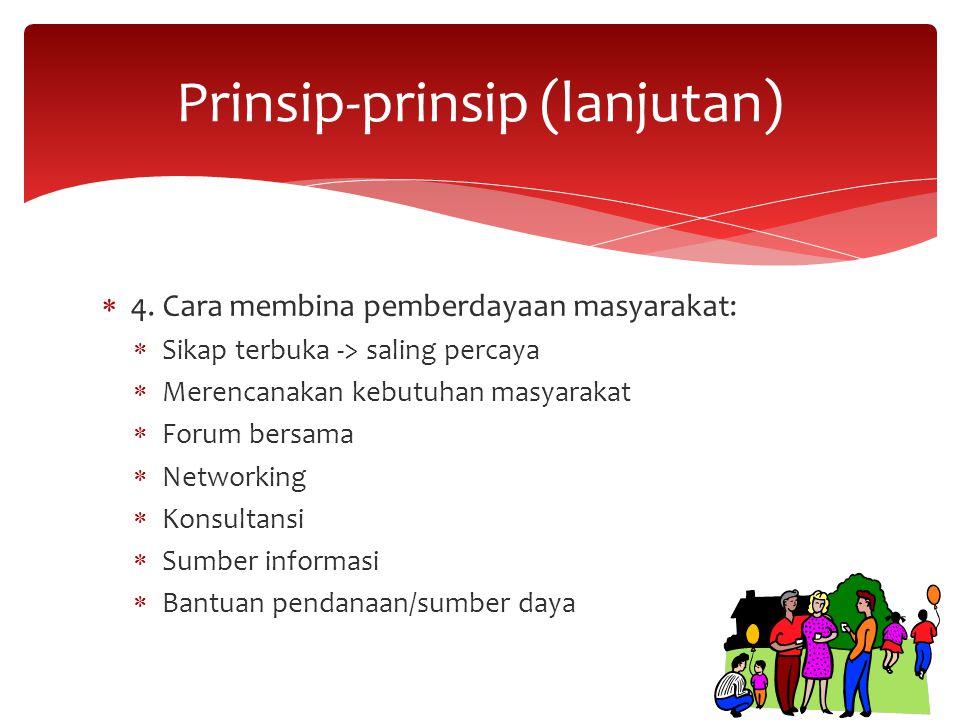Prinsip-prinsip (lanjutan)
