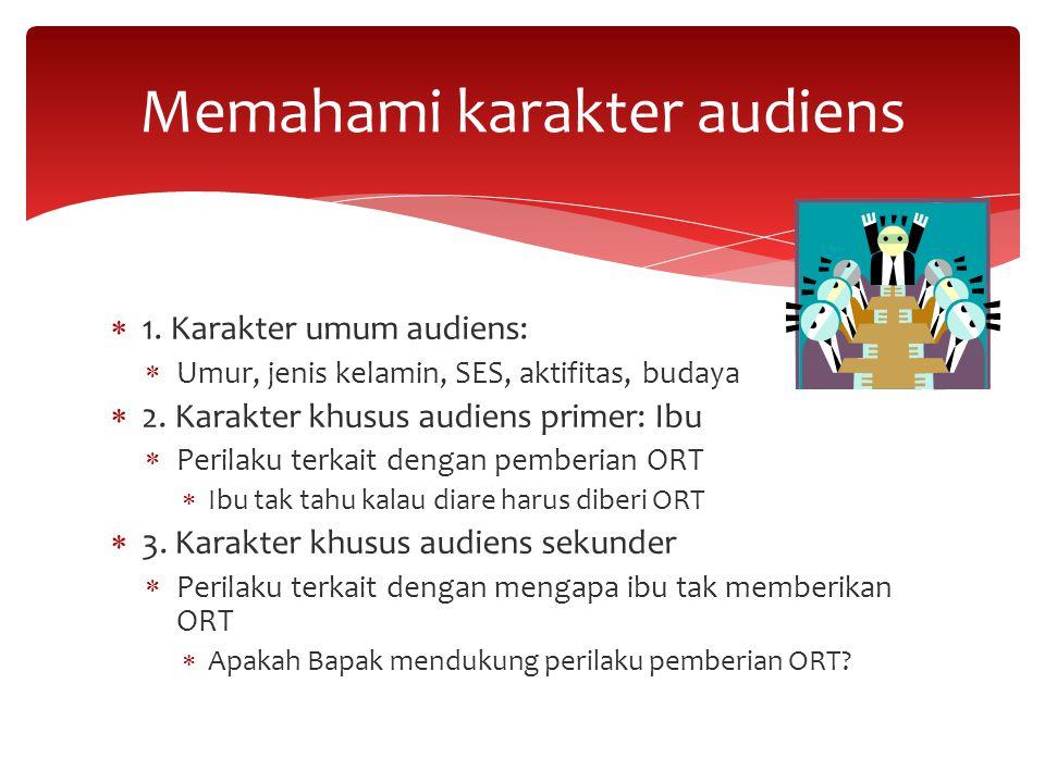 Memahami karakter audiens