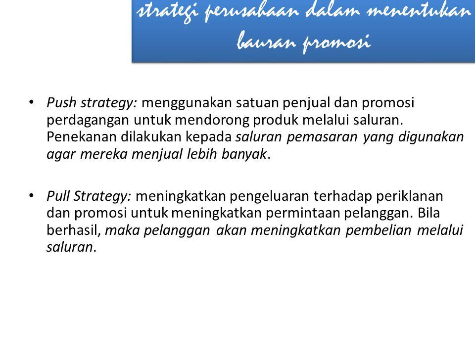 strategi perusahaan dalam menentukan bauran promosi