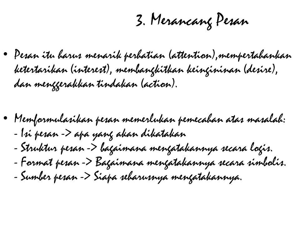 3. Merancang Pesan