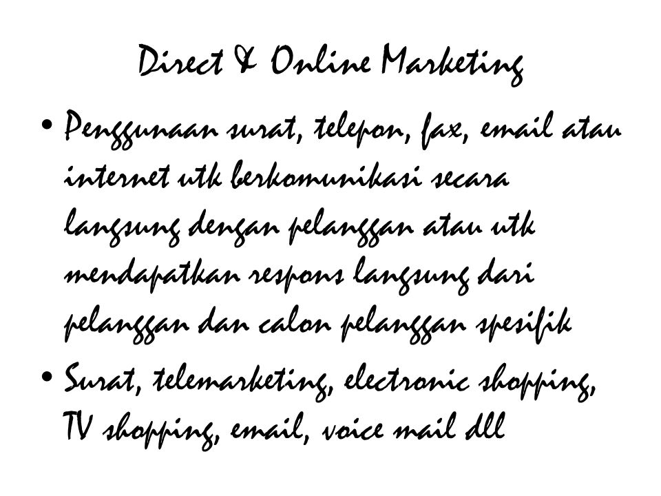 Direct & Online Marketing
