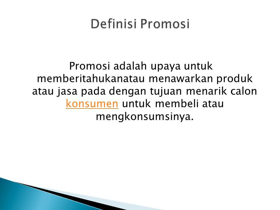 Definisi Promosi
