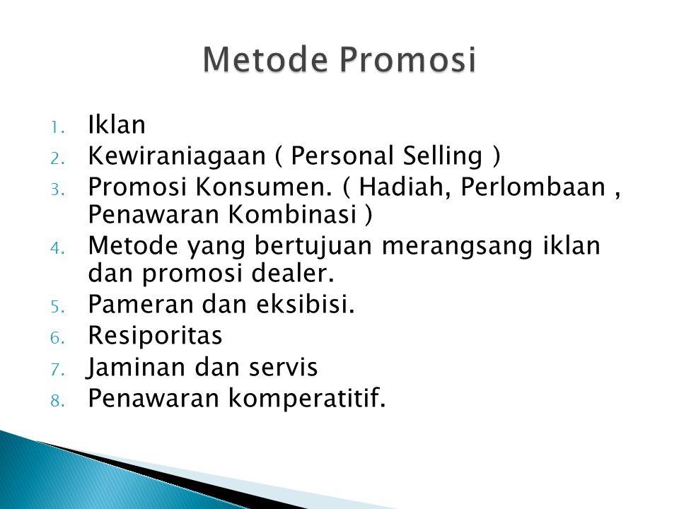 Metode Promosi Iklan Kewiraniagaan ( Personal Selling )