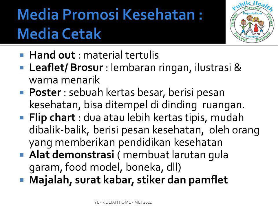 Media Promosi Kesehatan : Media Cetak