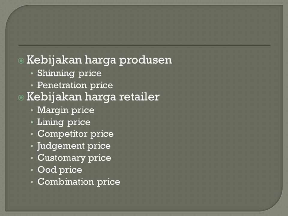Kebijakan harga produsen