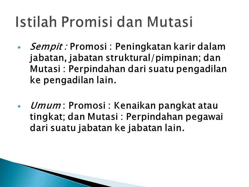 Istilah Promisi dan Mutasi