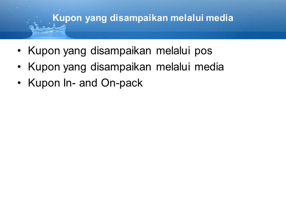 Kupon yang disampaikan melalui media