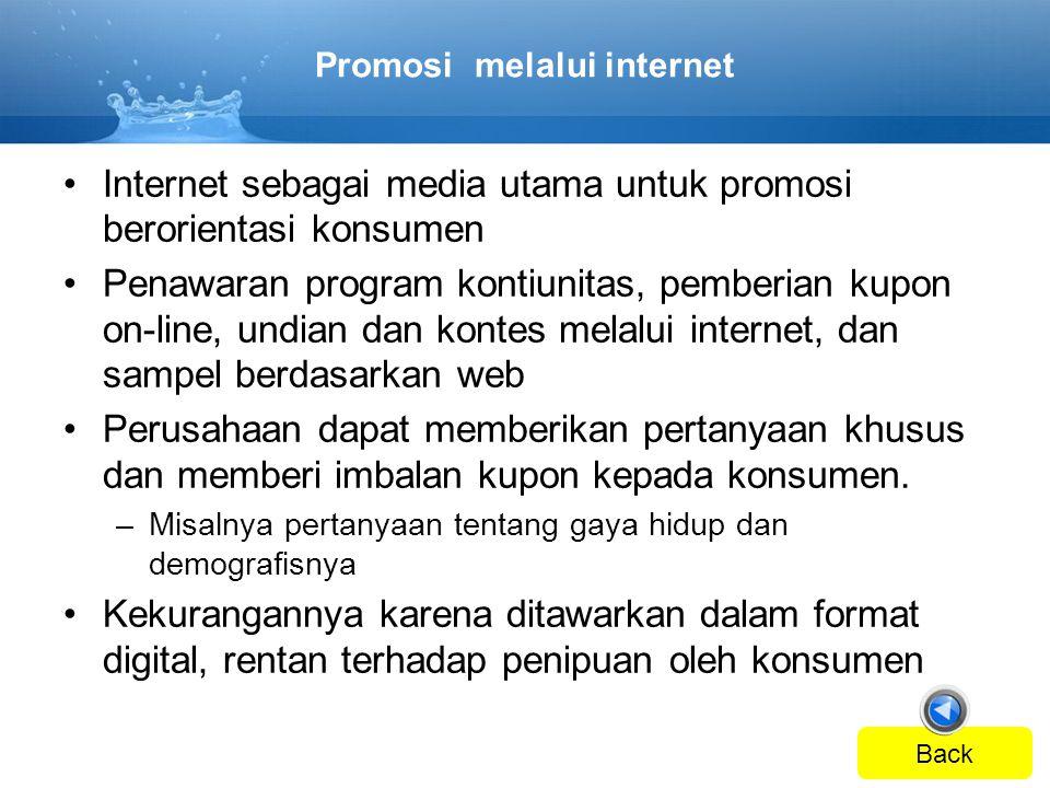 Promosi melalui internet