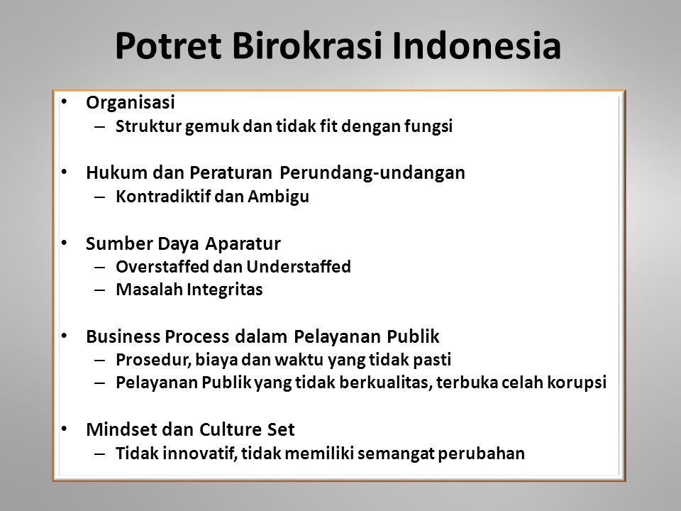 Potret Birokrasi Indonesia