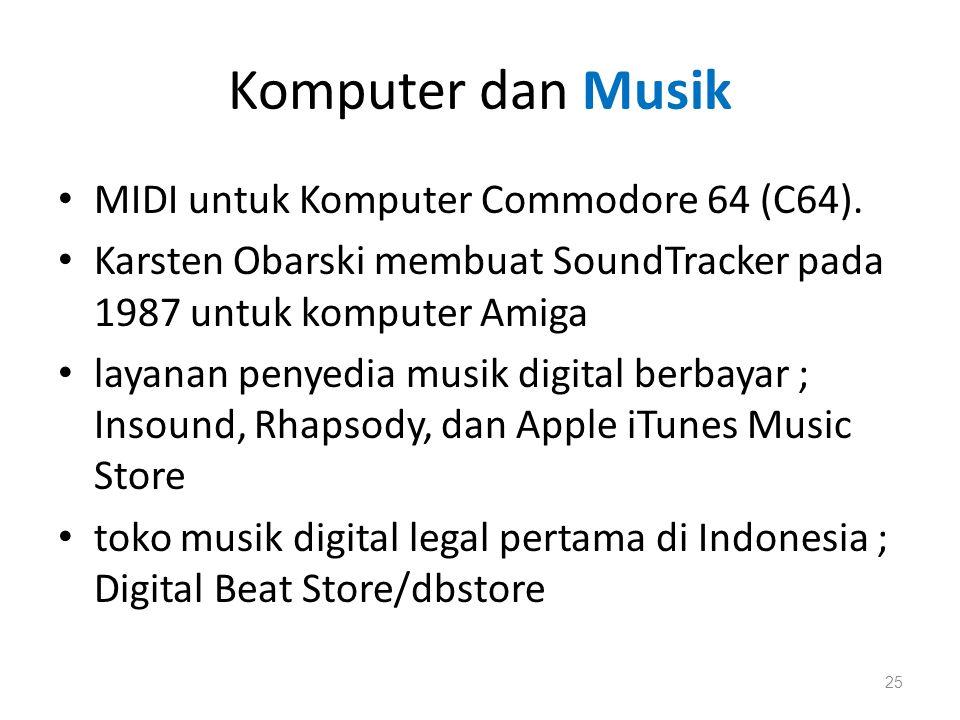 Komputer dan Musik MIDI untuk Komputer Commodore 64 (C64).