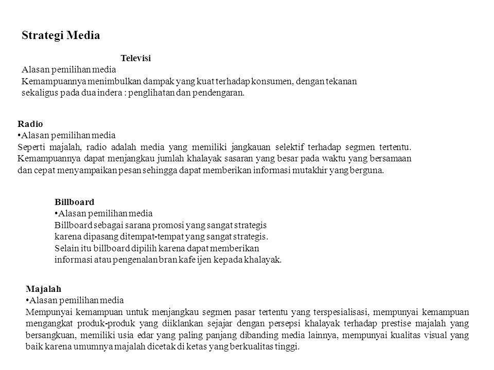 Strategi Media Televisi Alasan pemilihan media