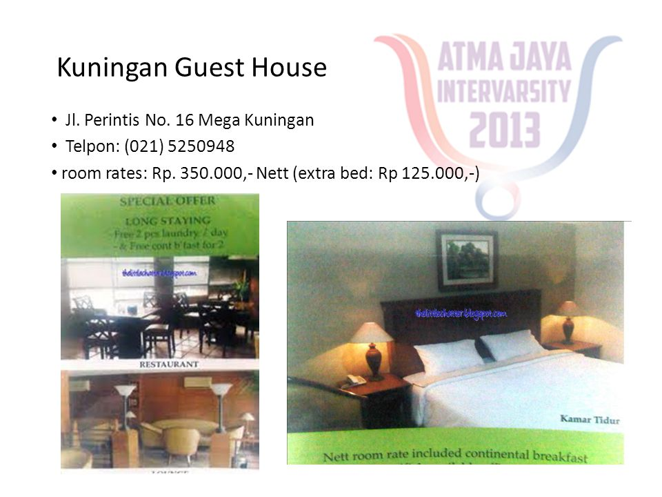 Kuningan Guest House Jl. Perintis No. 16 Mega Kuningan