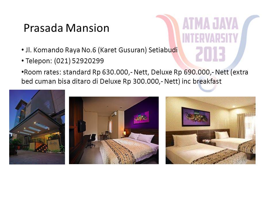 Prasada Mansion Jl. Komando Raya No.6 (Karet Gusuran) Setiabudi