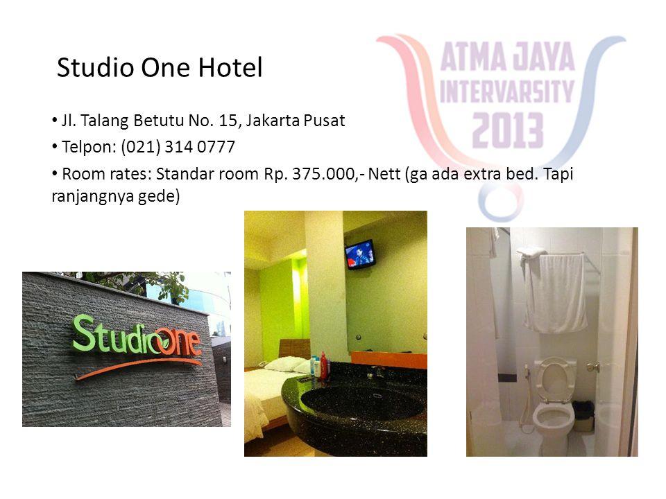 Studio One Hotel Jl. Talang Betutu No. 15, Jakarta Pusat