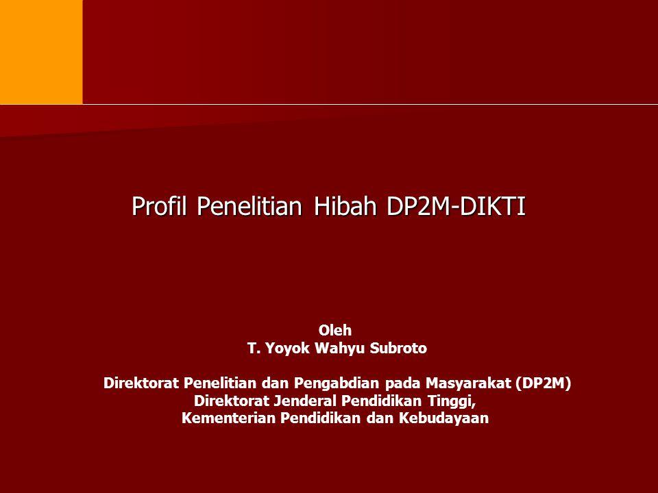 Profil Penelitian Hibah DP2M-DIKTI