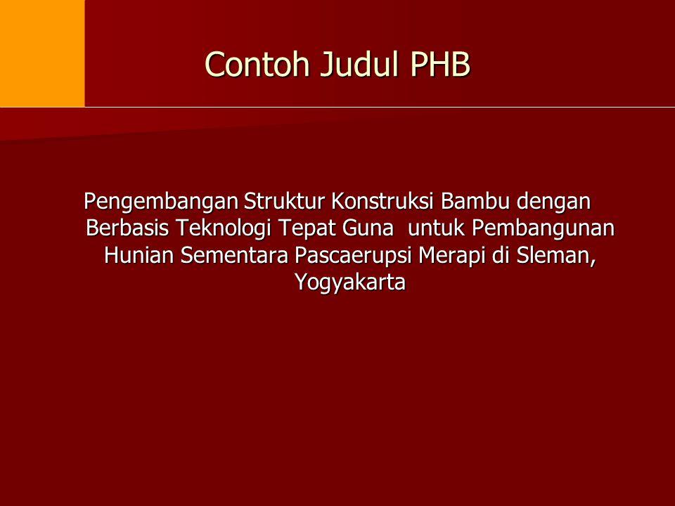 Contoh Judul PHB