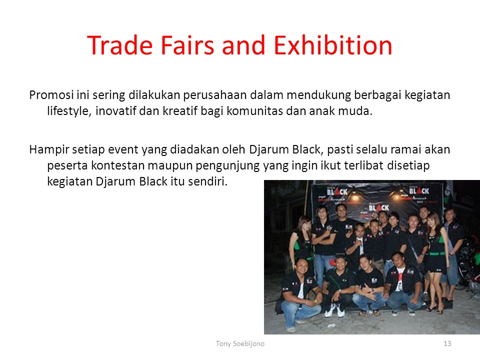 Trade Fairs and Exhibition
