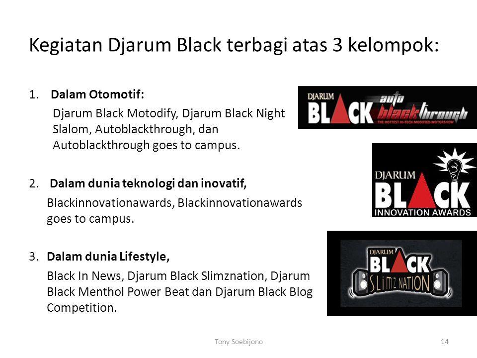 Kegiatan Djarum Black terbagi atas 3 kelompok: