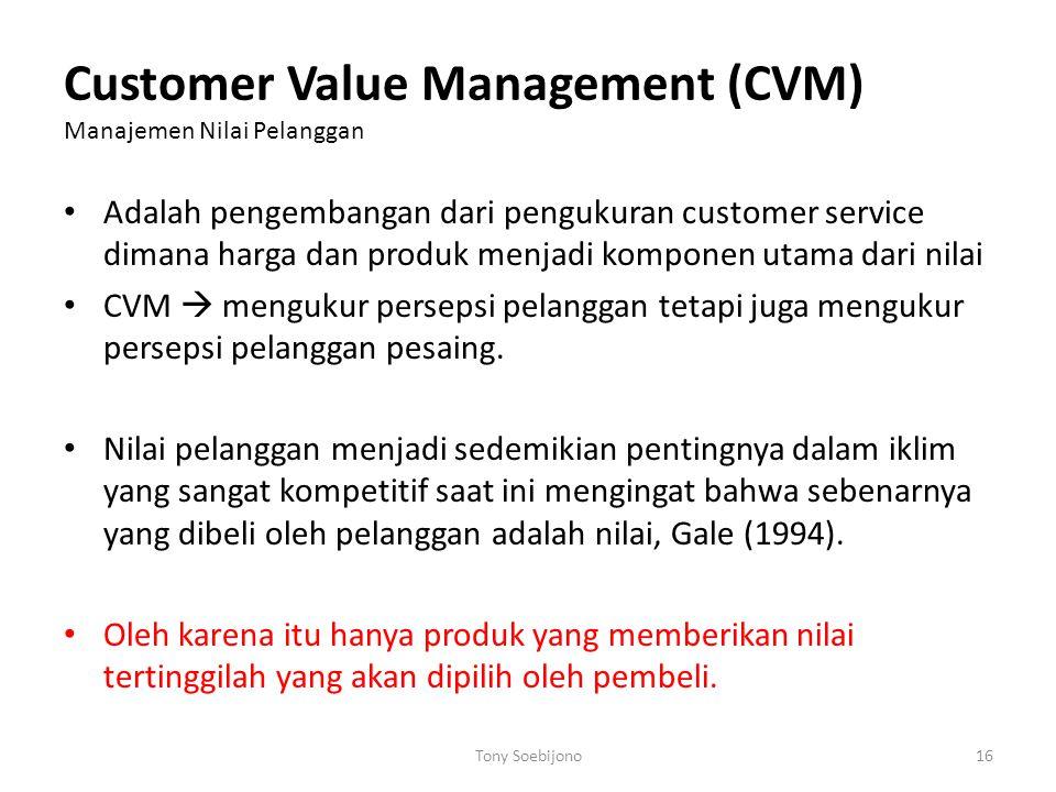 Customer Value Management (CVM) Manajemen Nilai Pelanggan