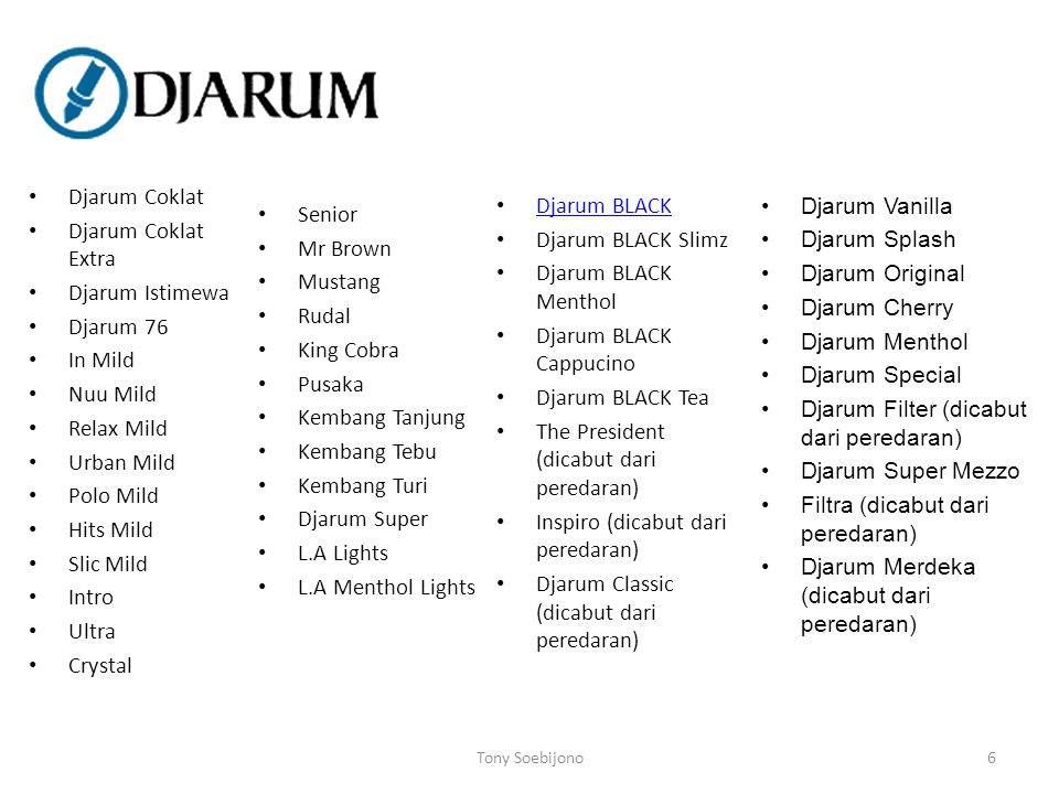 Djarum BLACK Cappucino Djarum BLACK Tea