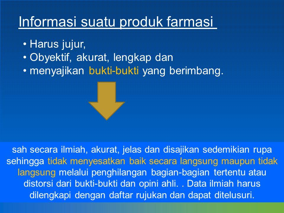 Informasi suatu produk farmasi