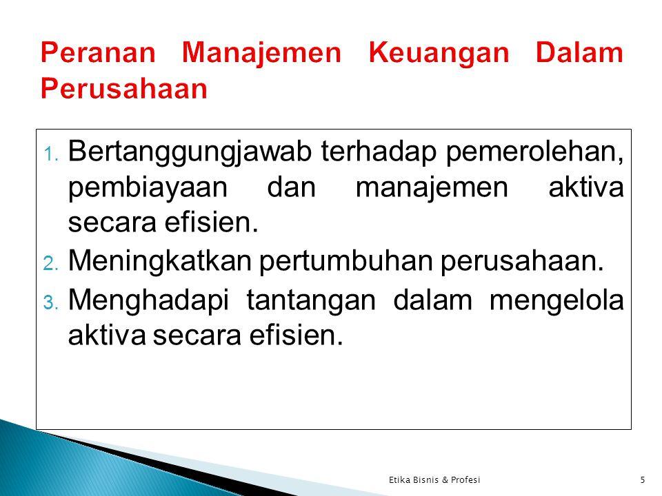Peranan Manajemen Keuangan Dalam Perusahaan
