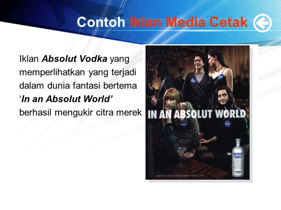 Contoh Iklan Media Cetak