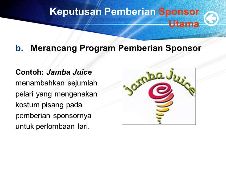 Keputusan Pemberian Sponsor Utama