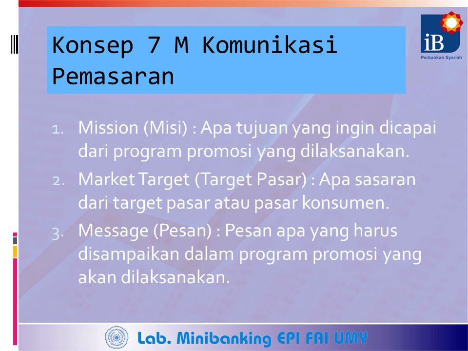 Konsep 7 M Komunikasi Pemasaran