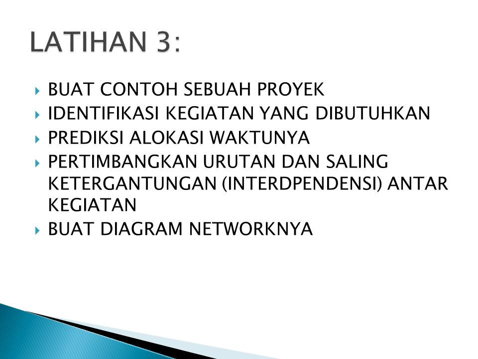 LATIHAN 3: BUAT CONTOH SEBUAH PROYEK