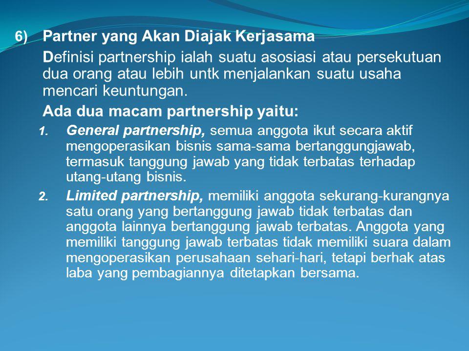 Partner yang Akan Diajak Kerjasama