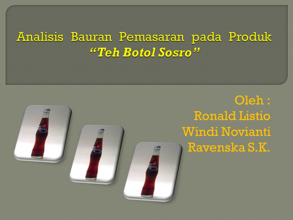 Analisis Bauran Pemasaran pada Produk Teh Botol Sosro