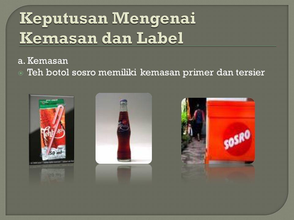 Keputusan Mengenai Kemasan dan Label